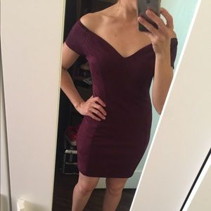 Off the shoulder Plum Dress